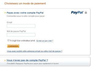 mode de paiement Paypal